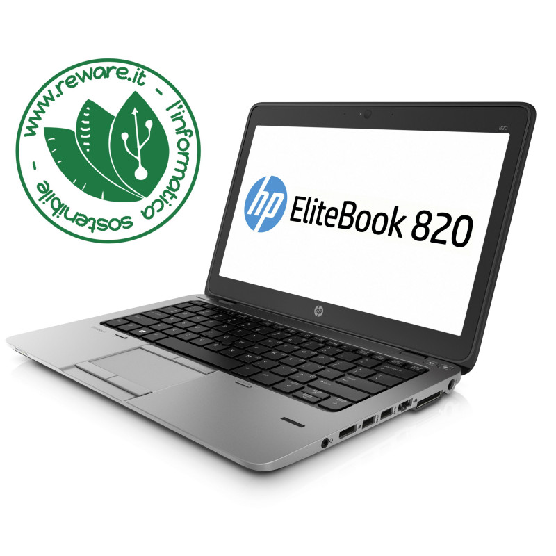 "Portatile HP EliteBook 820 G2 Core i5-5200U 12"" 8Gb SSD 256Gb usb3 Win10Pro"