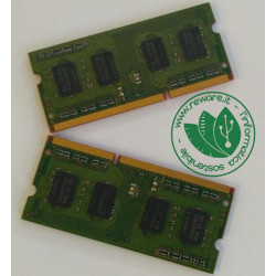 KIT RAM LAPTOP 4GB kit 2X2GB DDR3 PC3-10600s 1333mhz RAM sodimm 204-pin
