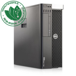 Workstation Dell T3600 Xeon quad E5-1607 16Gb SSD 240Gb Quadro 2000 dvdrw usb3 Win10