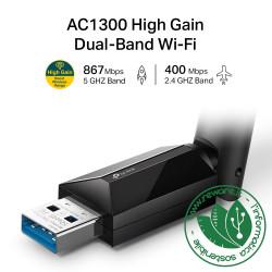 Adattatore wireless USB TP-Link Archer T3U Plus AC1300 con antenna esterna