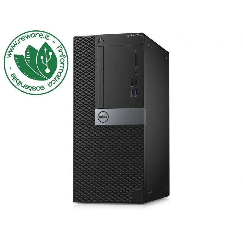 PC desktop Dell 7040 MT Intel Core i7-6700 8Gb SSD 256Gb dvdrw usb3 Win10Pro