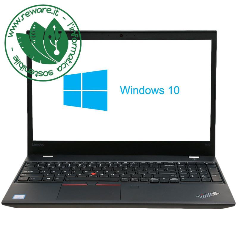 "Portatile Lenovo ThinkPad T570 i5-7200U 15.6"" FHD 8Gb SSD 256Gb usb3 Win10 Pro"
